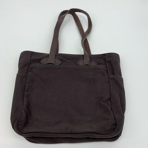 Filson Brown Rugged Twill Tote Bag